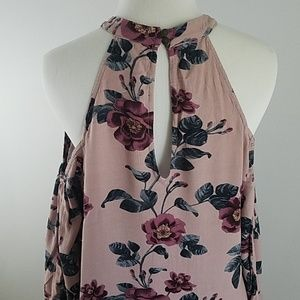 American Eagle Outfitters Dresses - AEO cold shoulder floral dress open sleeves boho